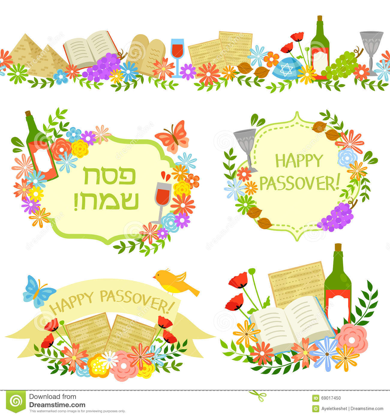 Passover stock illustrations 3123 passover stock illustrations passover labels set of labels and border for passover happy passover is m4hsunfo