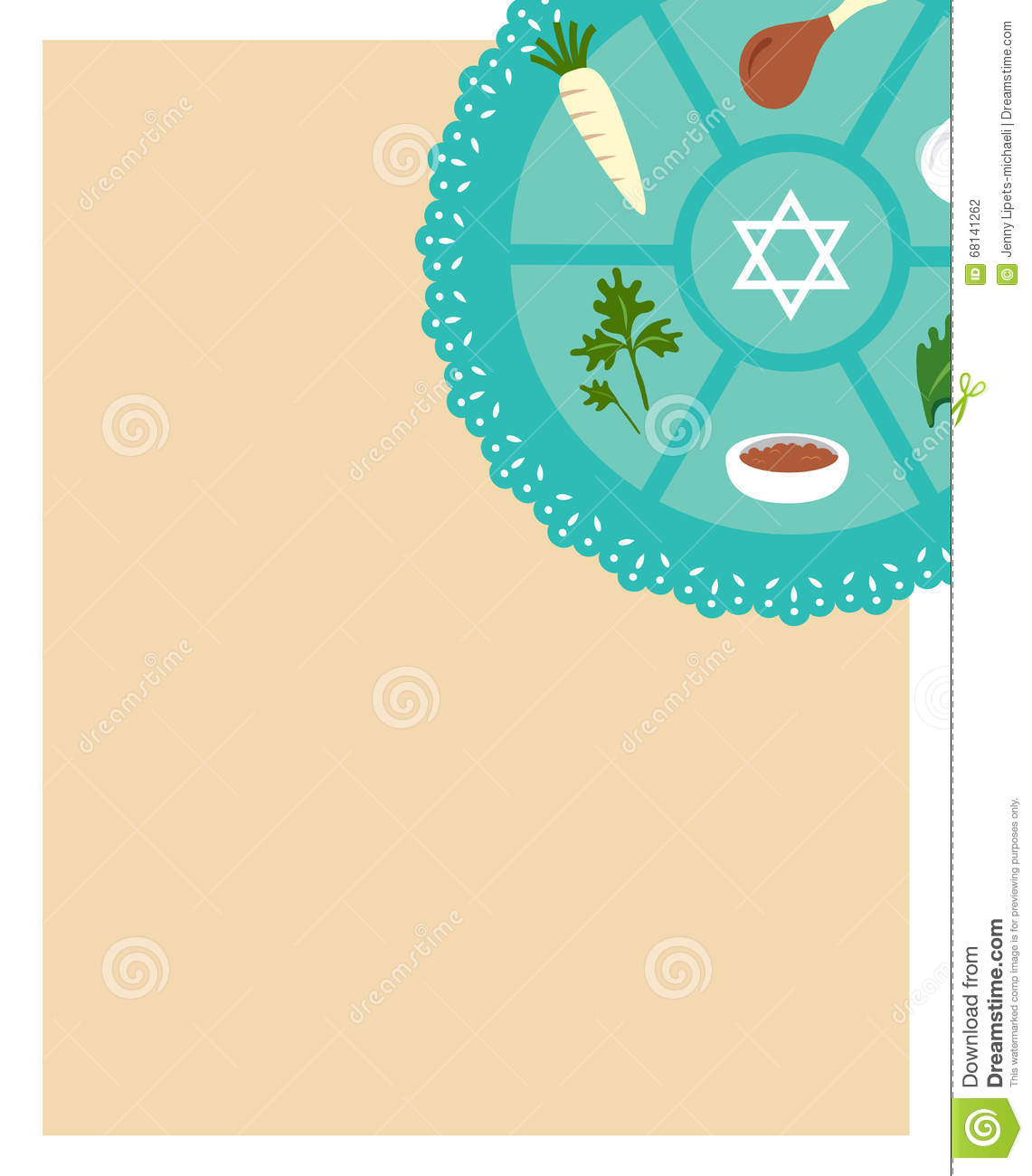 Passover seder flat icons eeting card template stock vector passover seder flat icons eeting card template buycottarizona