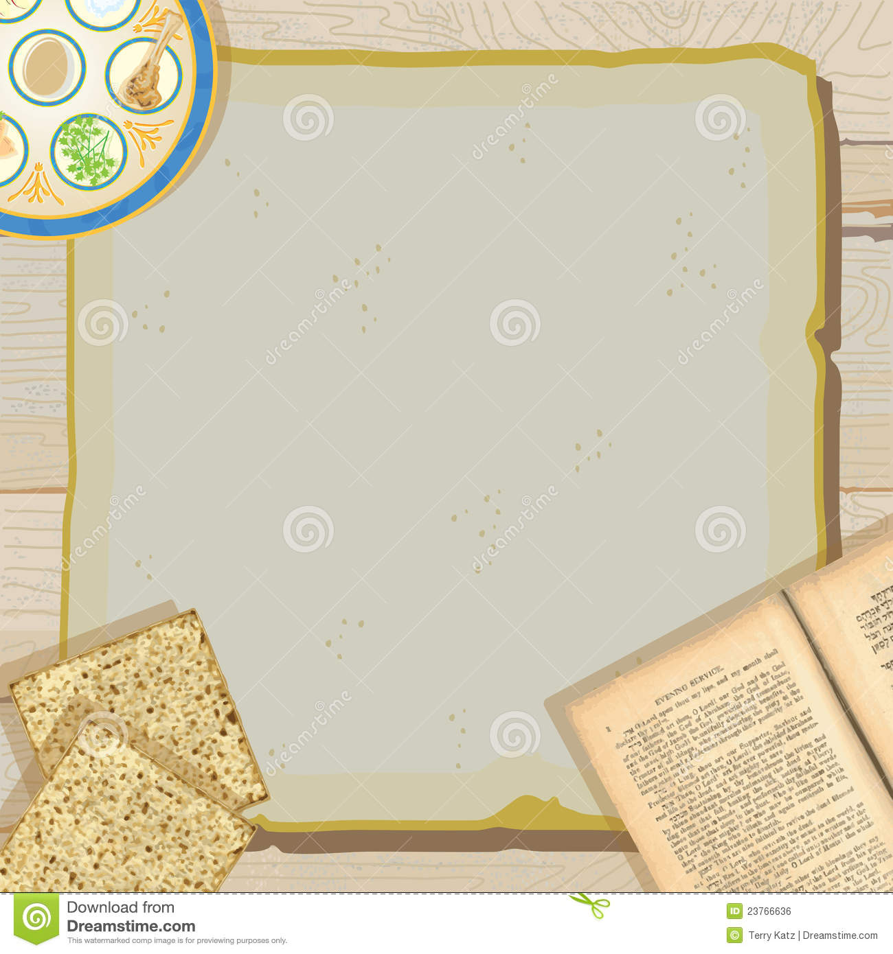 Passover Seder Meal Party Invitation Royalty Free Stock Image - Image ...