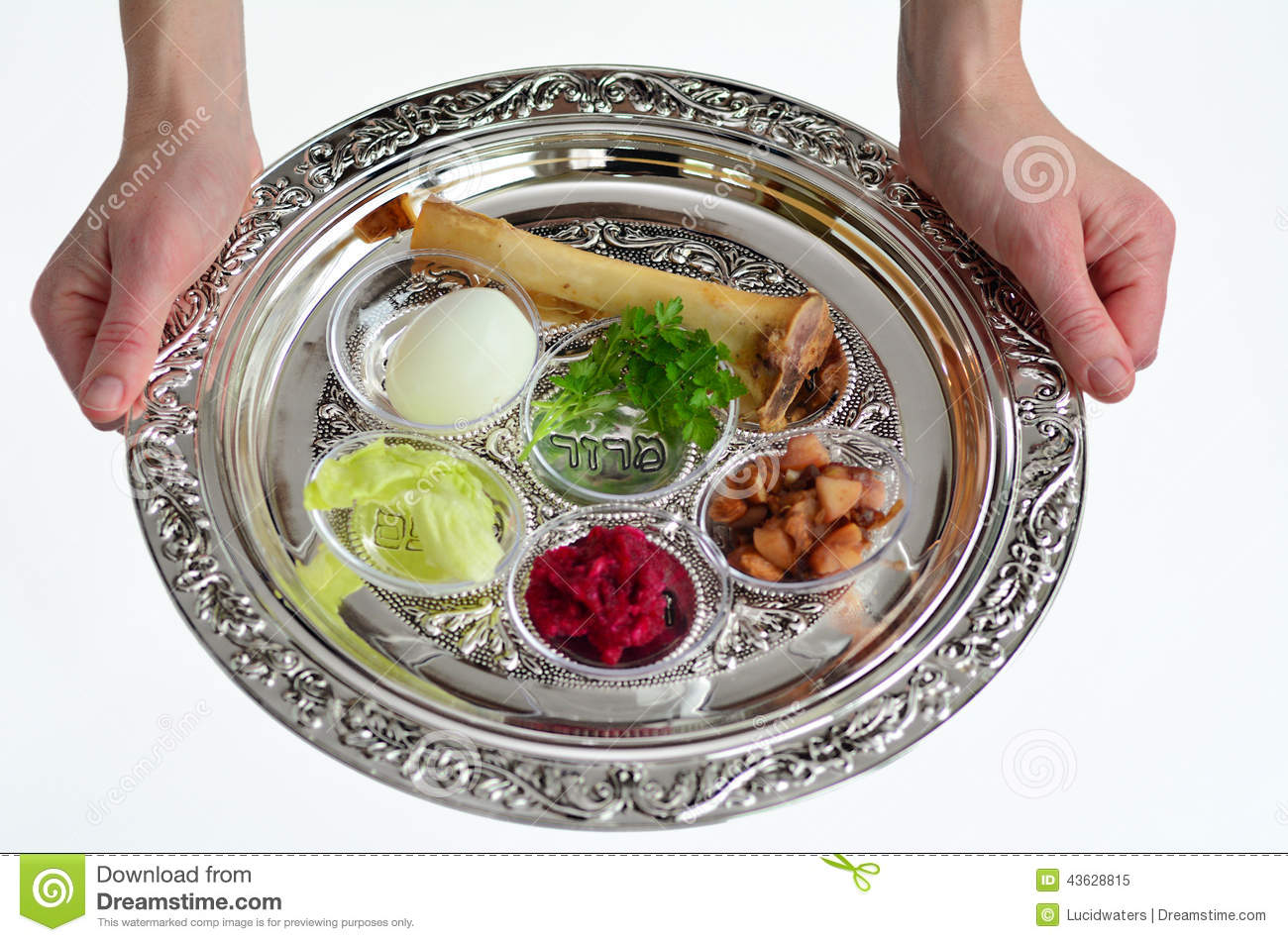 Passover Seder Plate Stock Photo - Image: 43628815