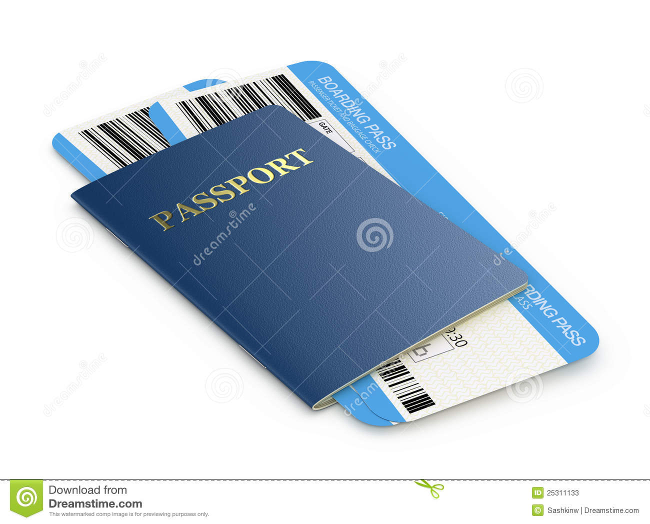 Passport and airline tickets stock photos image 25311133 for Cost of plane ticket to germany