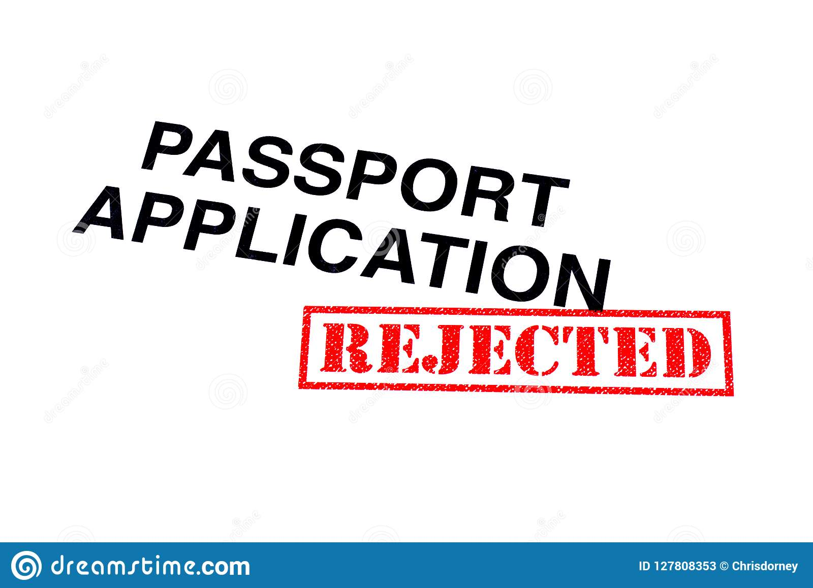 Passport Application Rejected Stock Image - Image of