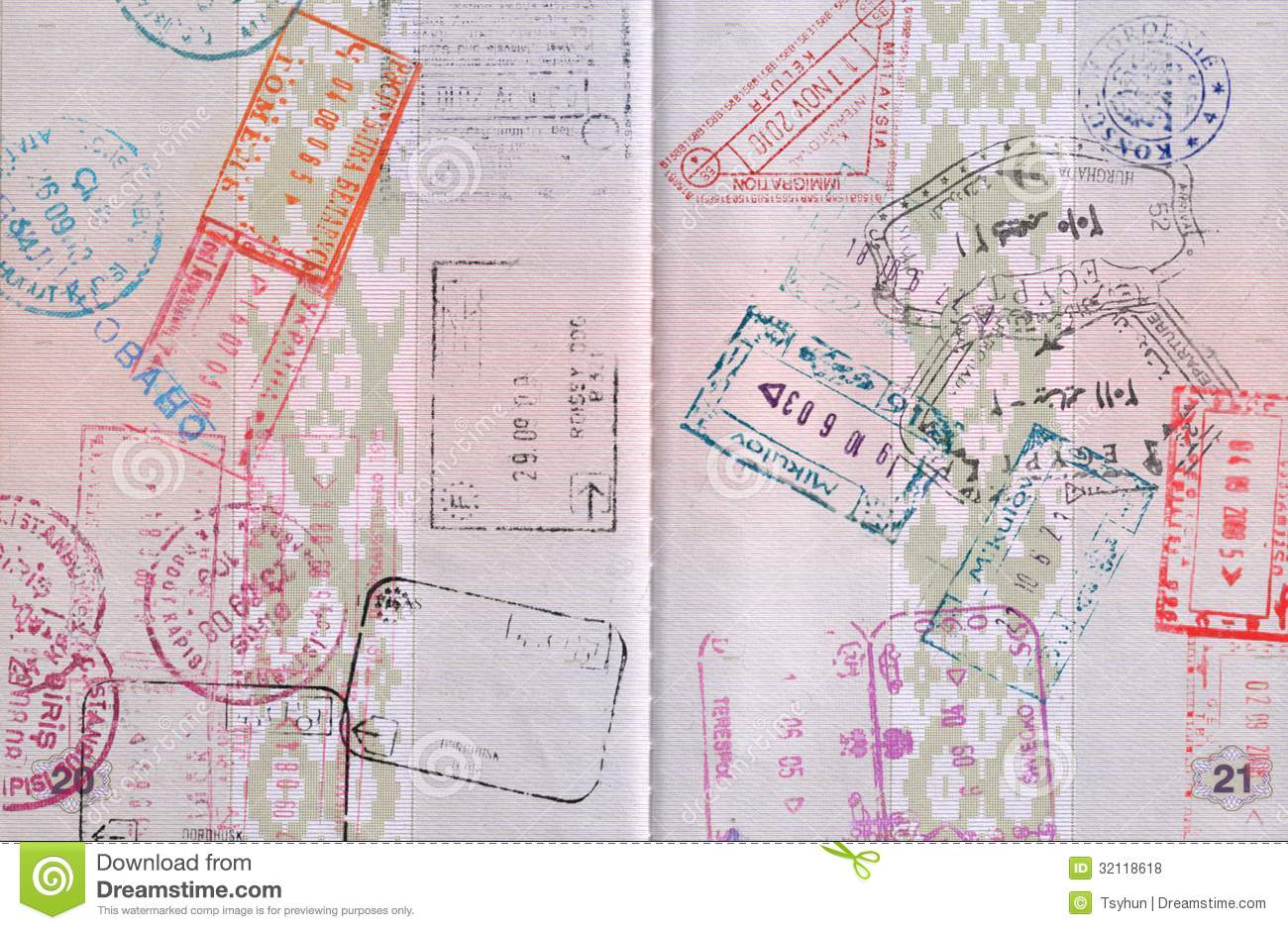 Passport Stock Photo Image Of Document Paper Abstract