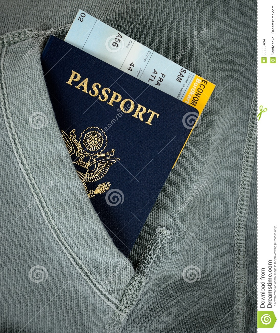 Passport With Boarding Pass Stock Photo Image Of Book Travel