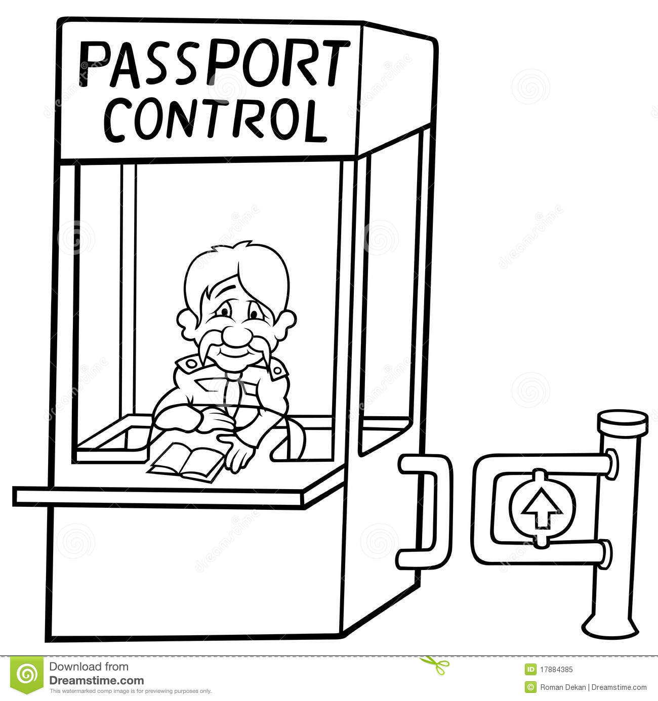 passport control royalty free stock photo image 17884385