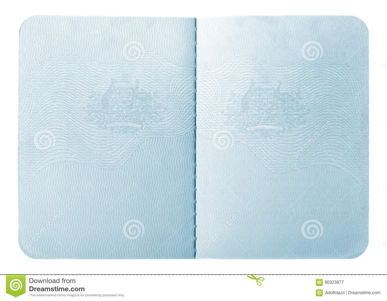 Passport Interior Pages Stock Image Image Of Pages