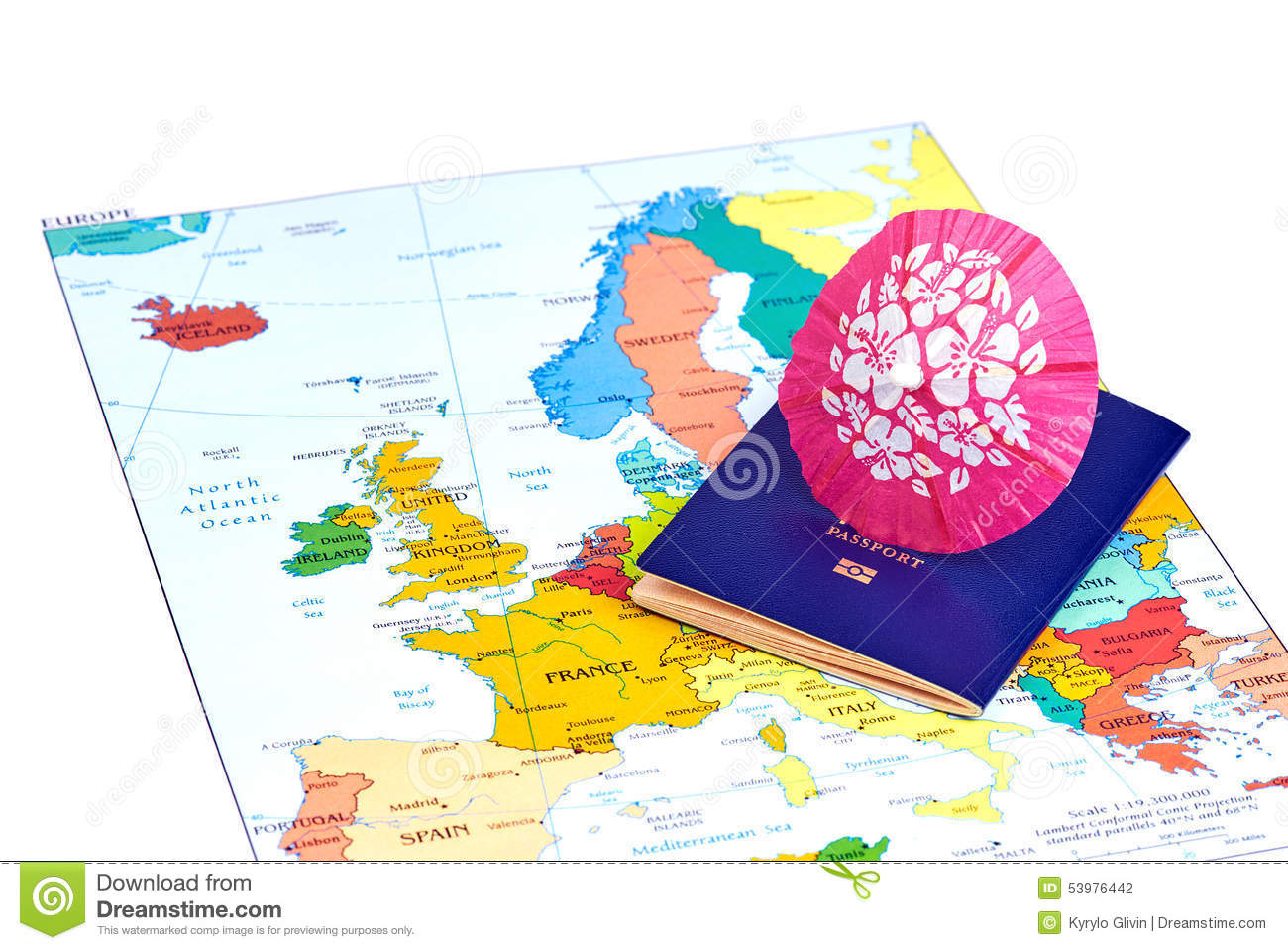 Passport And Map Of Europe Travel Concept Photo Image – Travel Maps Of Europe