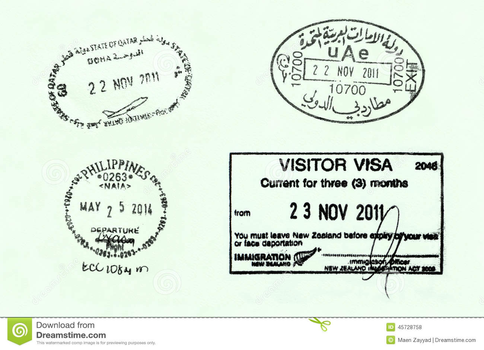 passport page stock photo image 45728758