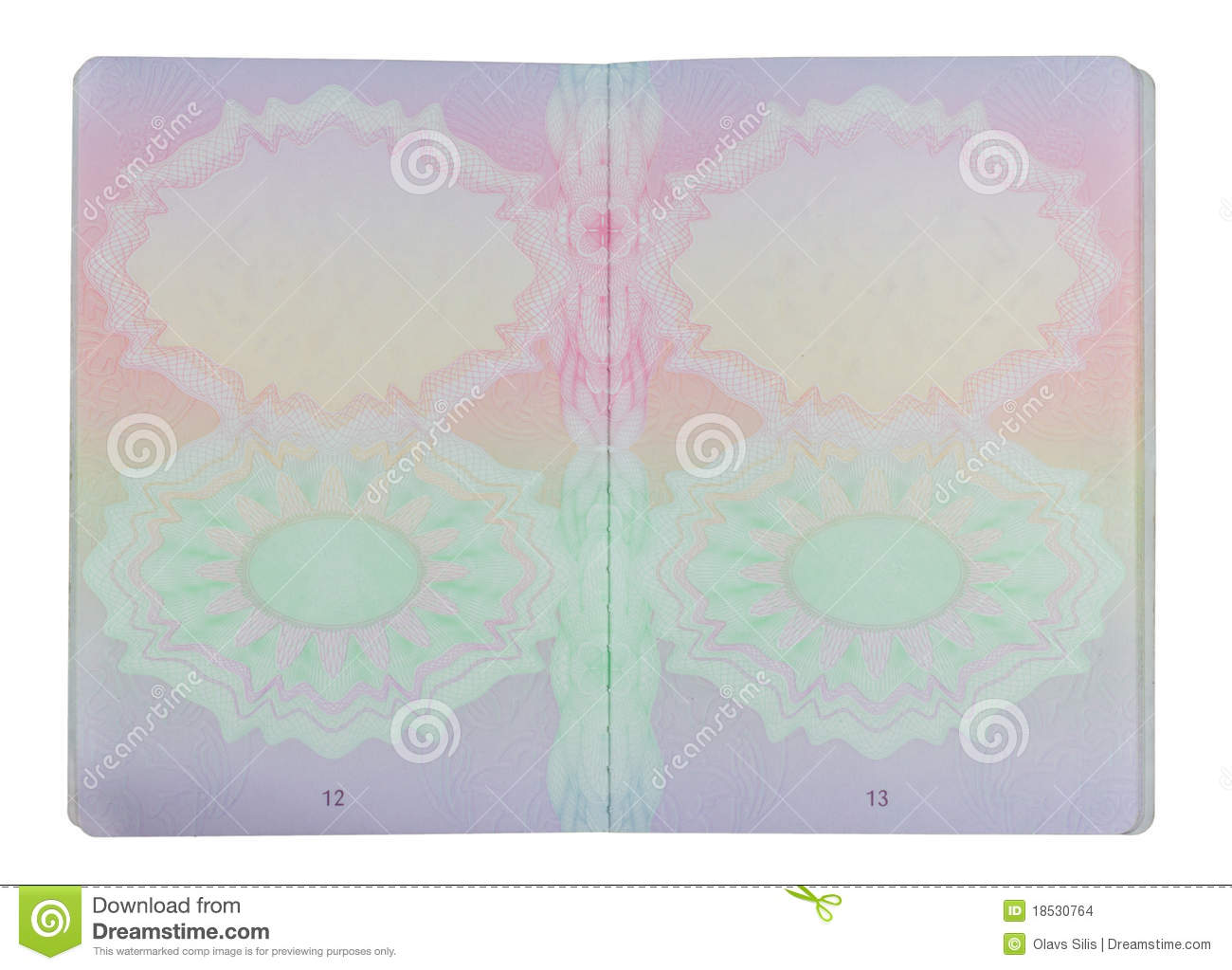 Passport Pages Stock Images - Image: 18530764