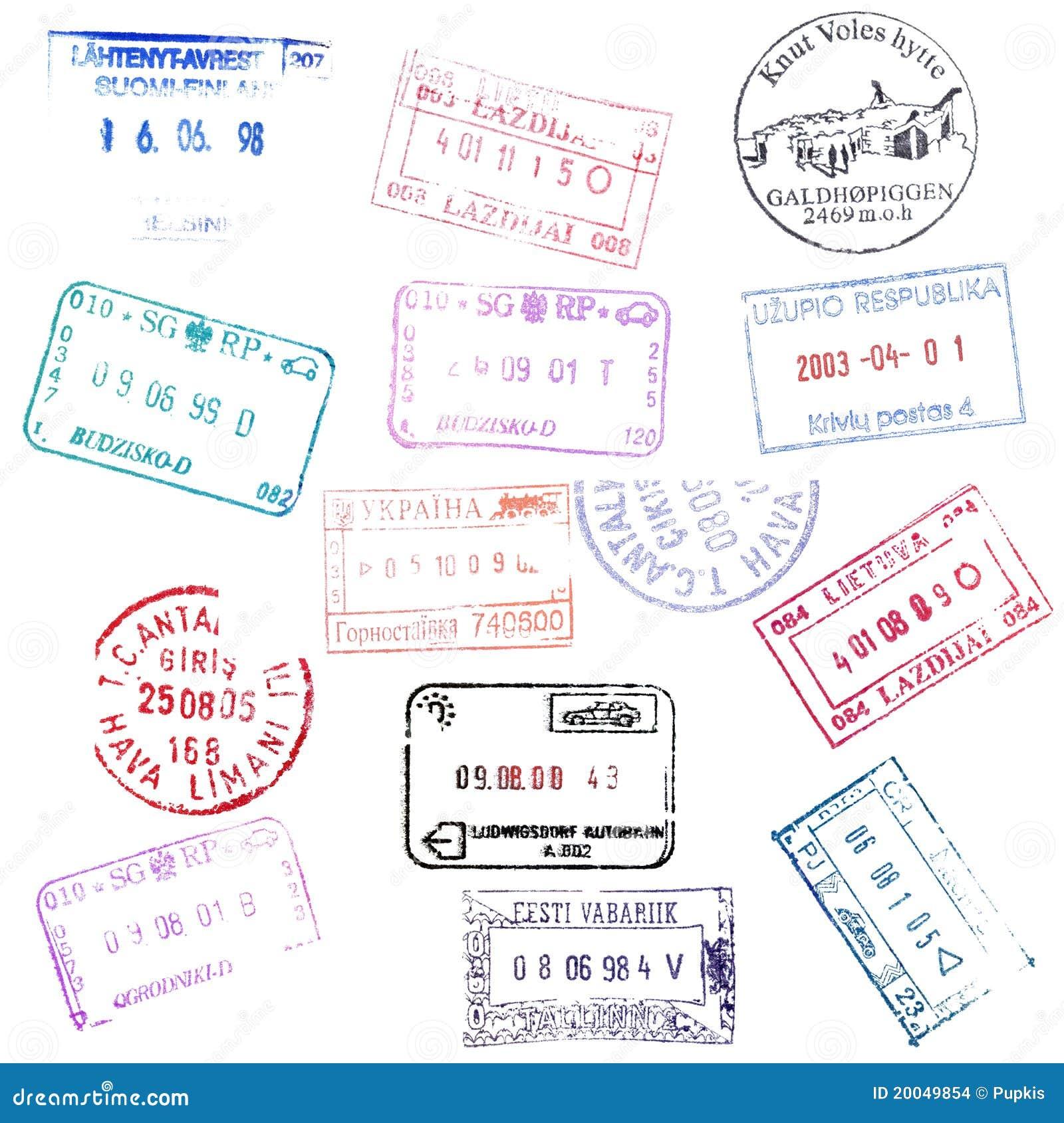 Passport Stamps stock photo. Image of frame, frankfurt - 20049854
