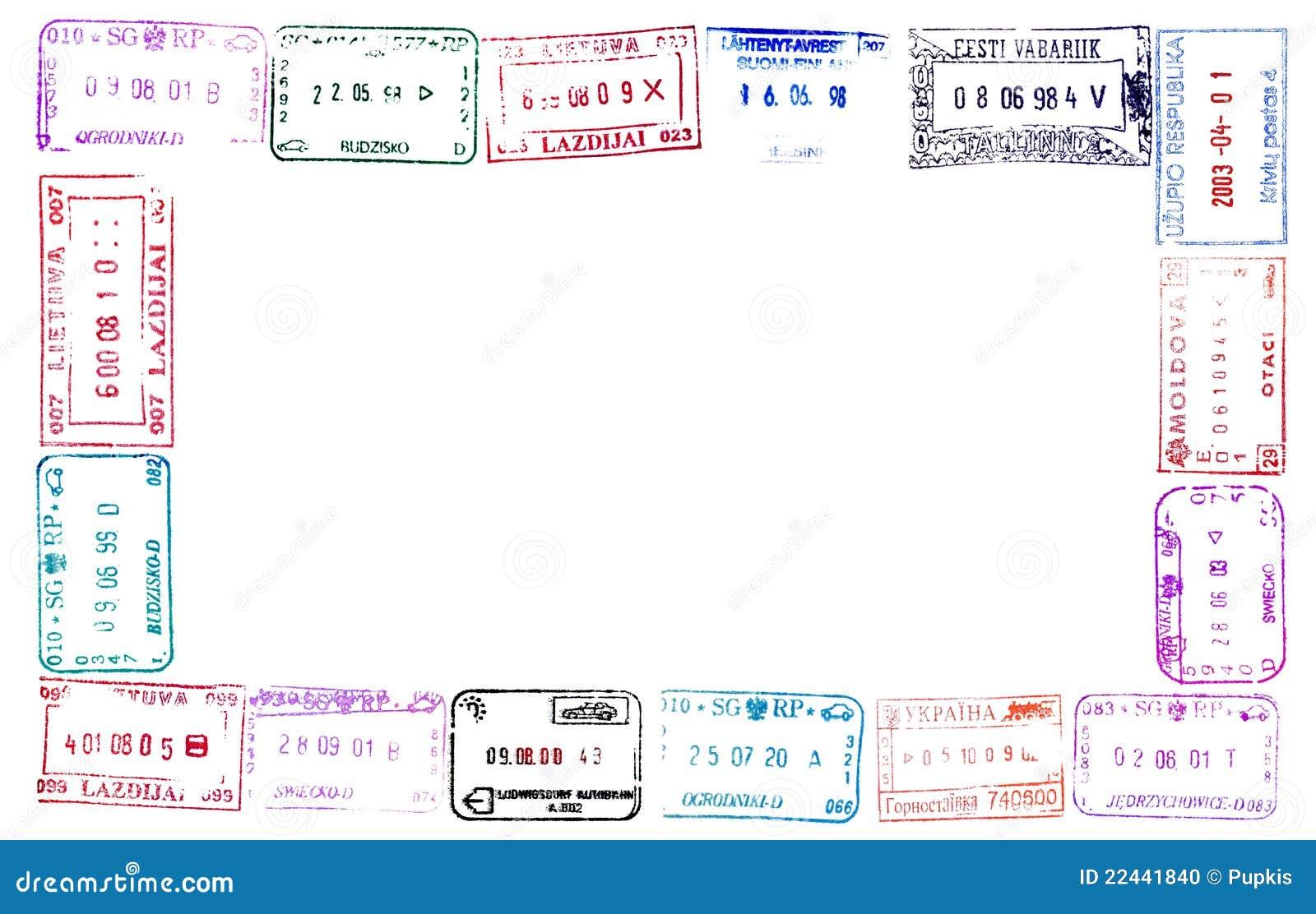 Passport Stamps stock photo. Image of border, estonia - 22441840