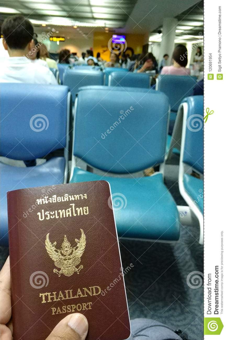 Passport and travel in the airport for departure another country