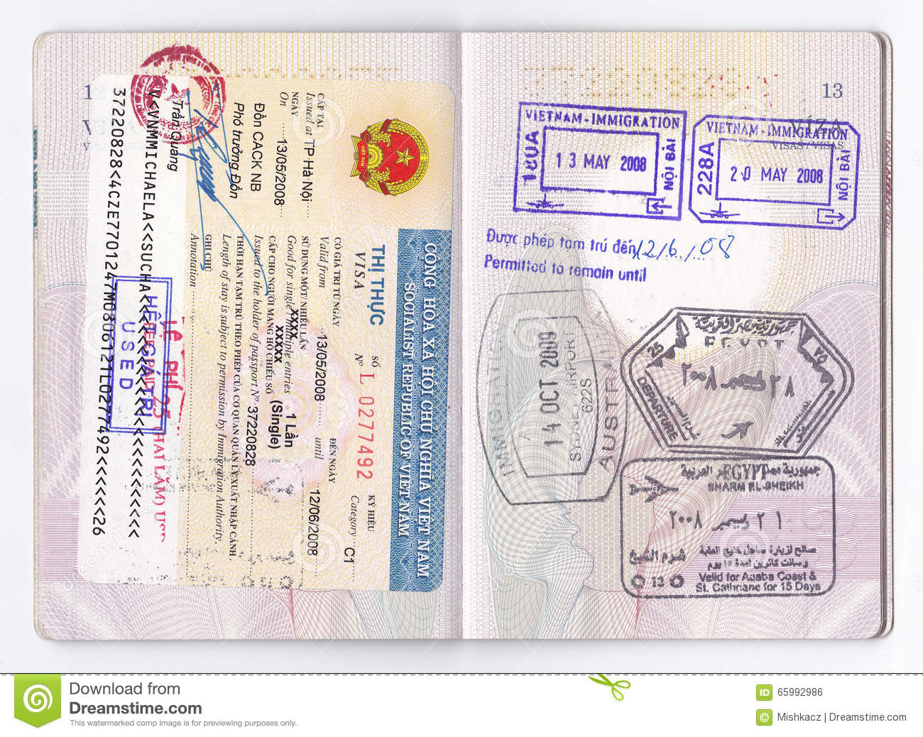 Passport visa stamps asia australia africa editorial photo download comp thecheapjerseys Images