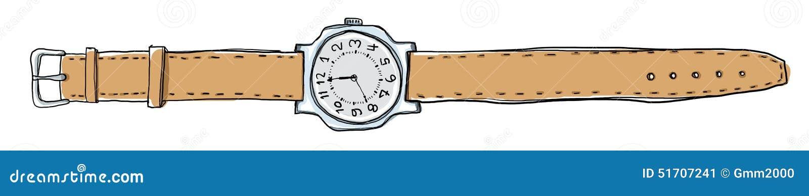 Armbanduhr gezeichnet  Passt Weinlese Auf Zu übergeben Gezeichnet Stock Abbildung - Bild ...