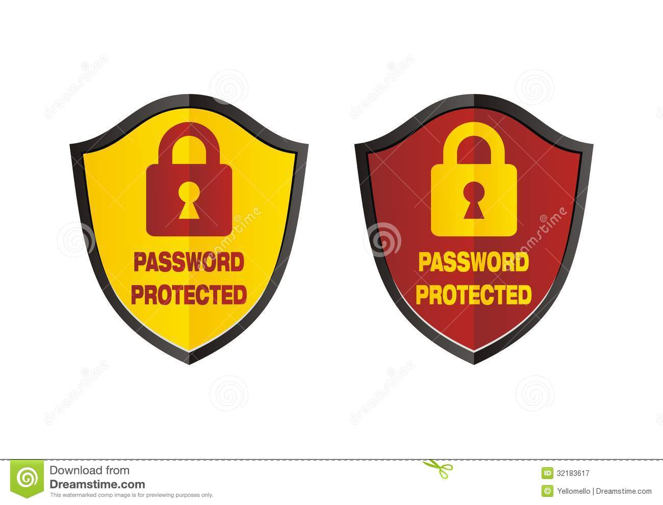 Password Protected - Shield Signs Royalty Free Stock Photography ...