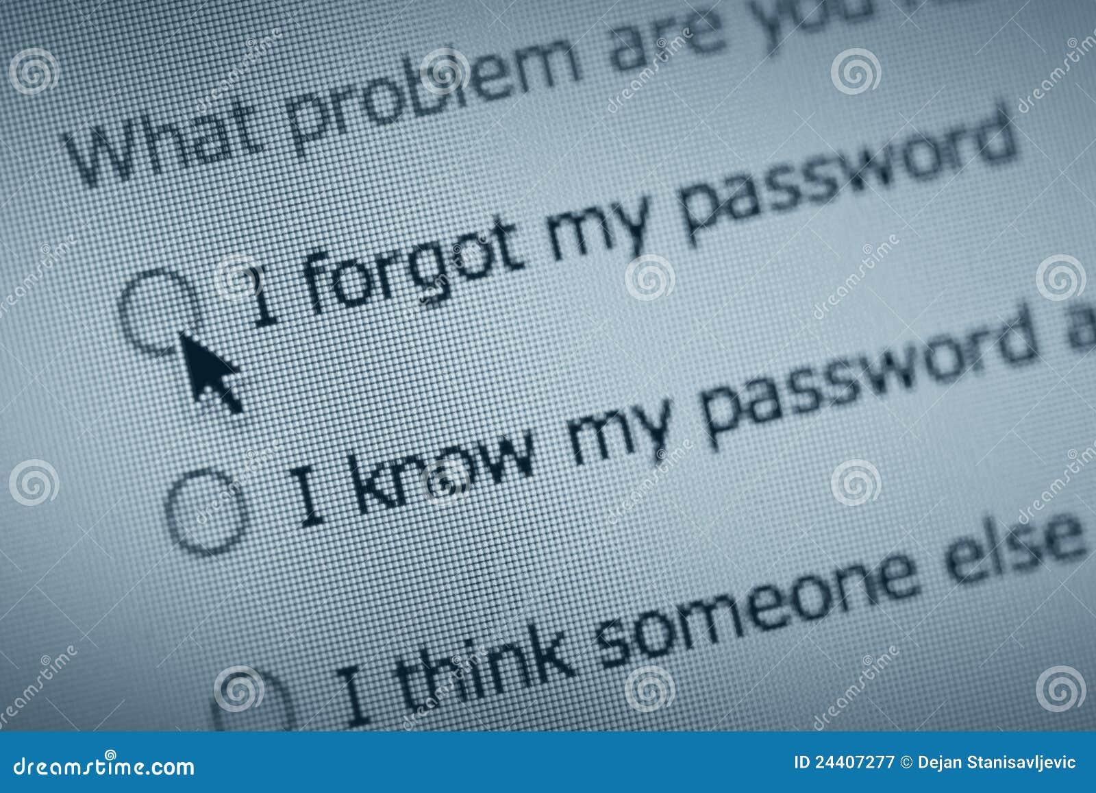 Password trouble