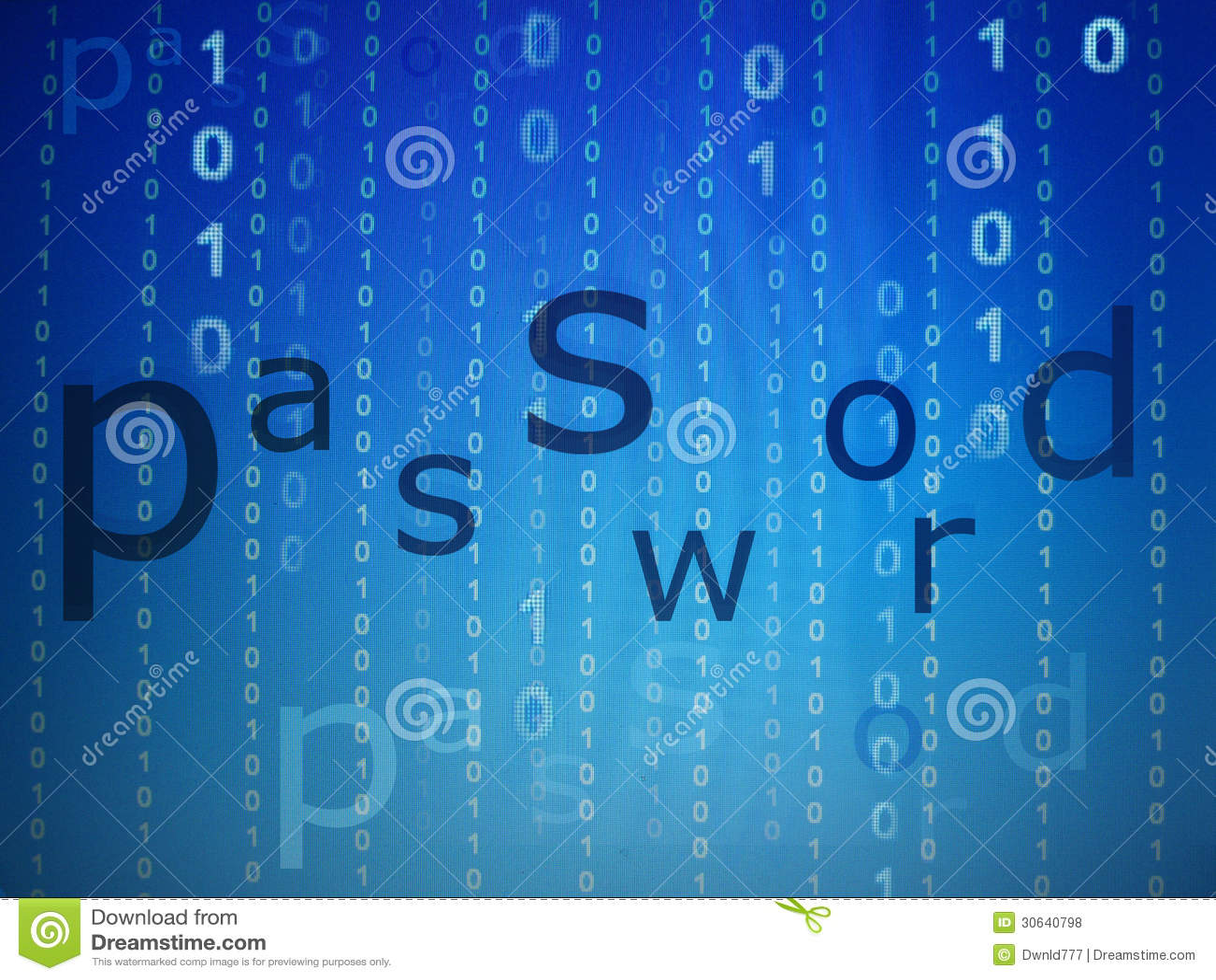 Passworton-line-Sicherheits-Konzeptblau
