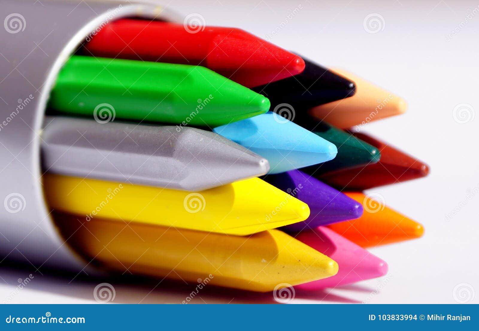 Pastéis do plástico da cor