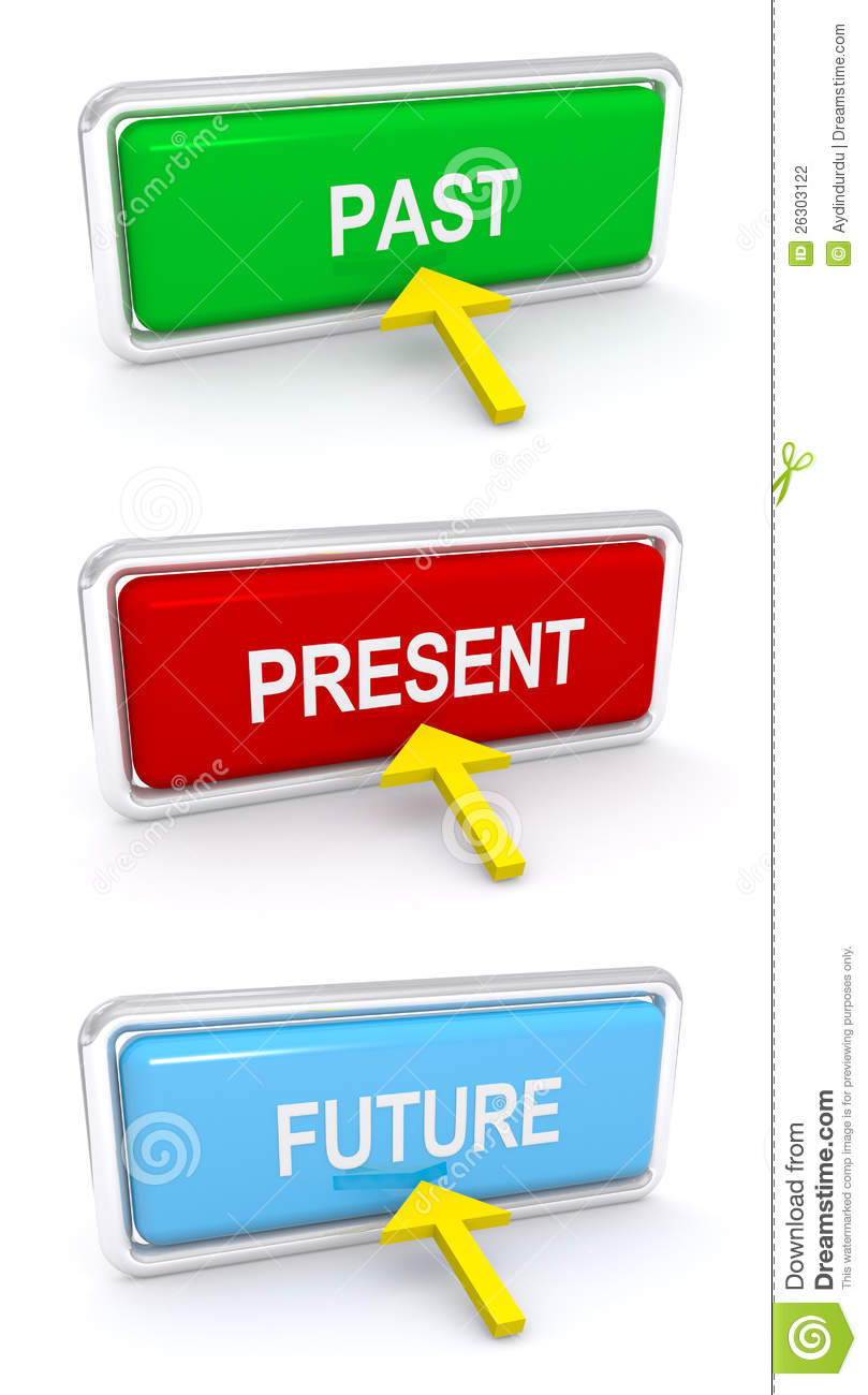 Past, Present, Future Buttons Stock Photography - Image ...
