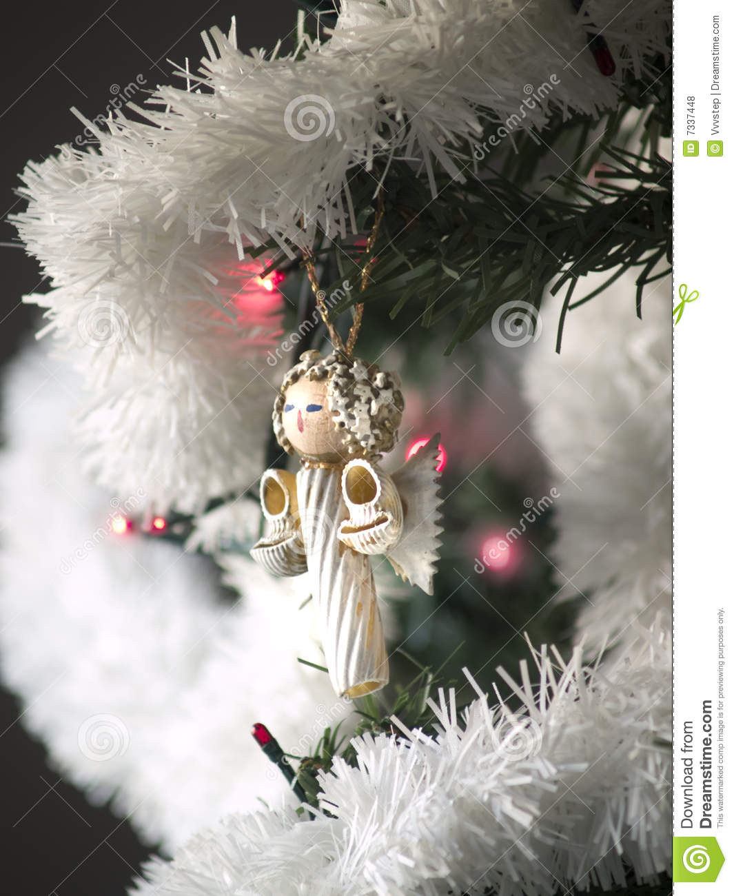 Pasta angel on christmas tree stock photo image 7337448 for Angel of the north christmas decoration