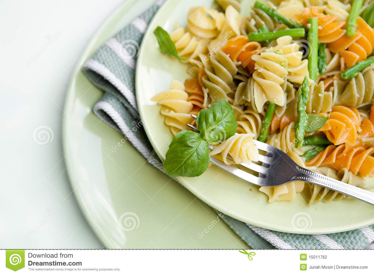 Pasta With Asparagus And Rocket Pesto Stock Photography - Image ...