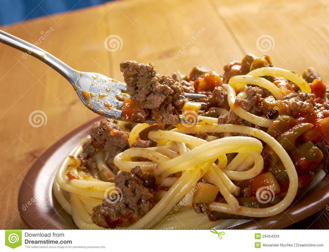 Pasta With Beef Tomato Sauce Stock Images - Image: 29454334