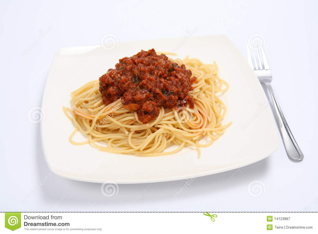 Pasta With Bolognese Sauce Royalty Free Stock Photography - Image ...
