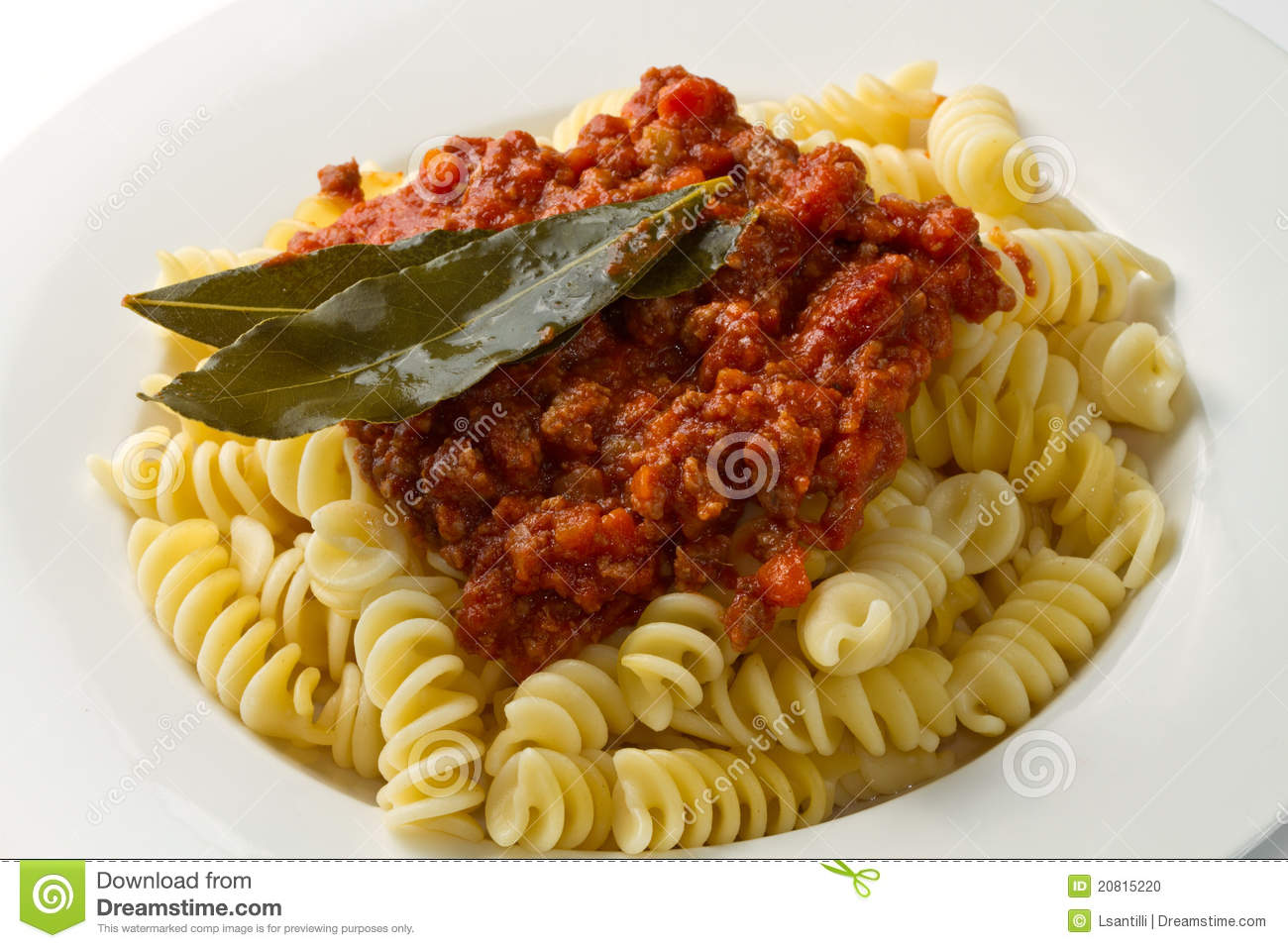 Pasta With Bolognese Sauce Stock Photo - Image: 20815220