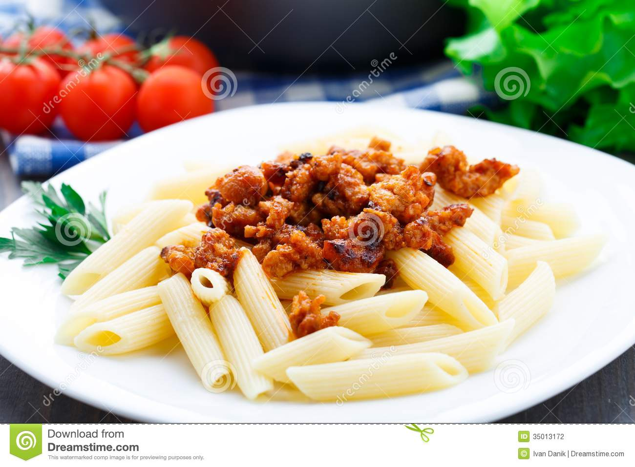 Pasta With Bolognese Sauce Stock Photography - Image: 35013172