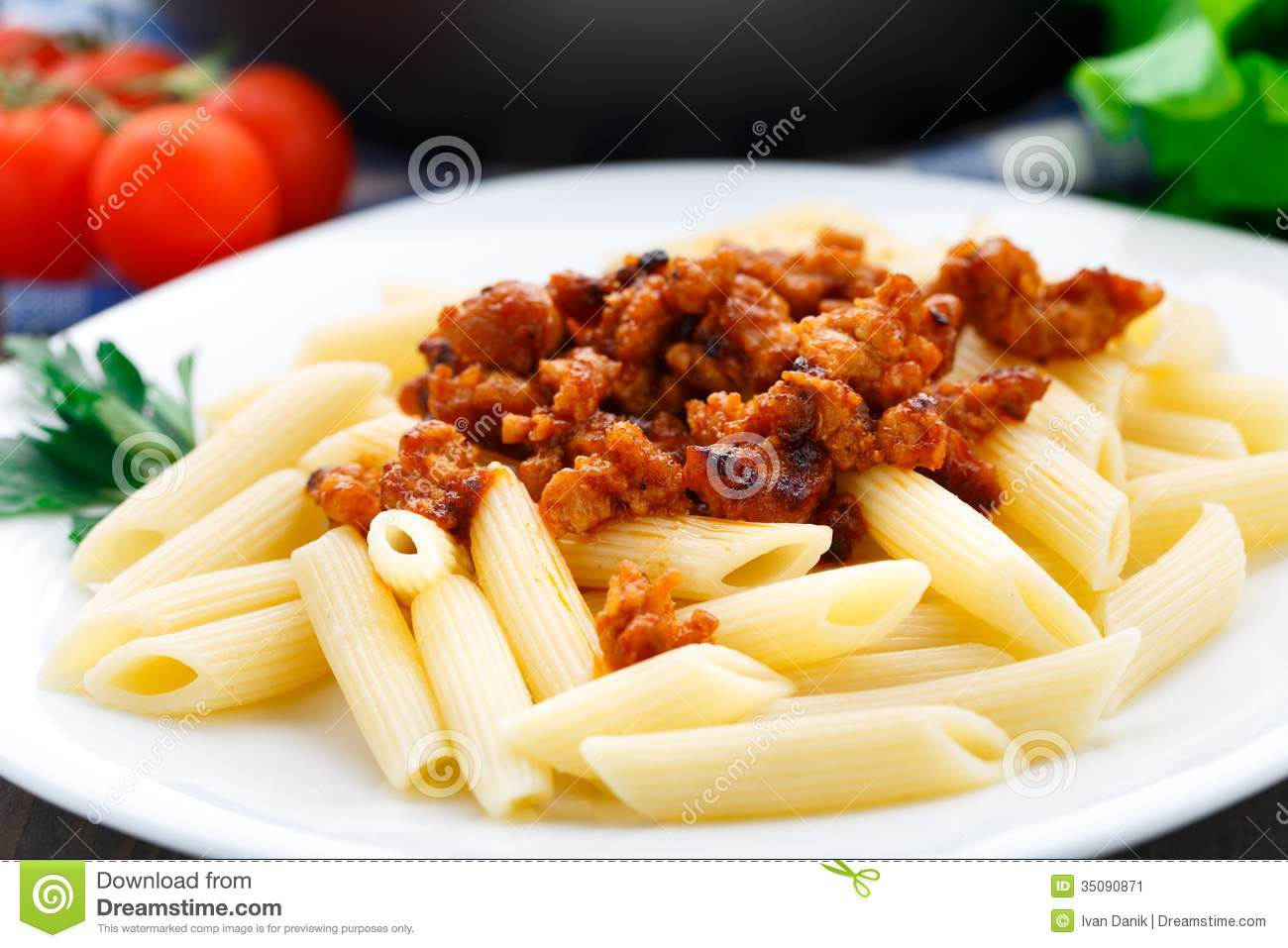 Pasta With Bolognese Sauce Stock Image - Image: 35090871