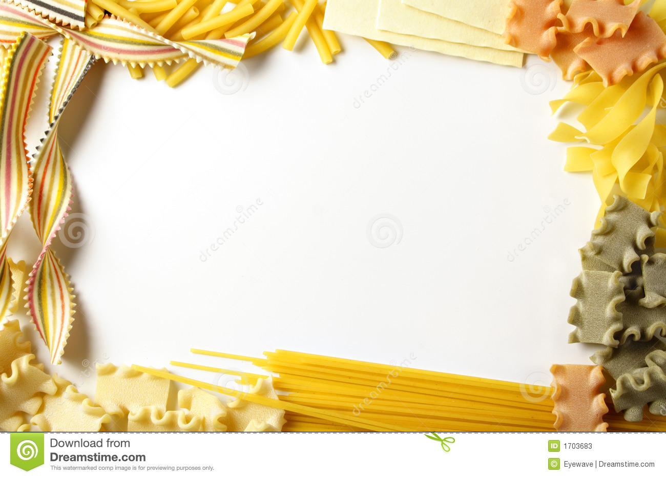 Pasta Border Stock Photos  Image: 1703683