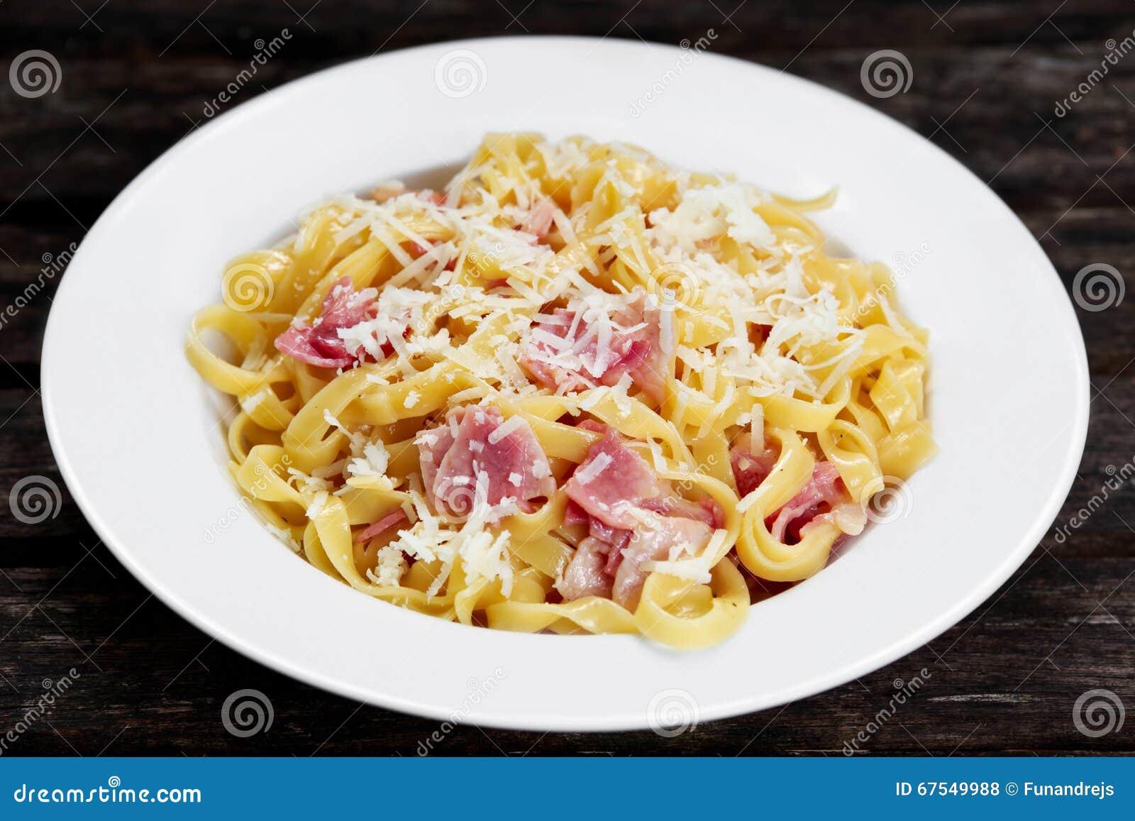 Bacon Egg Spaghetti