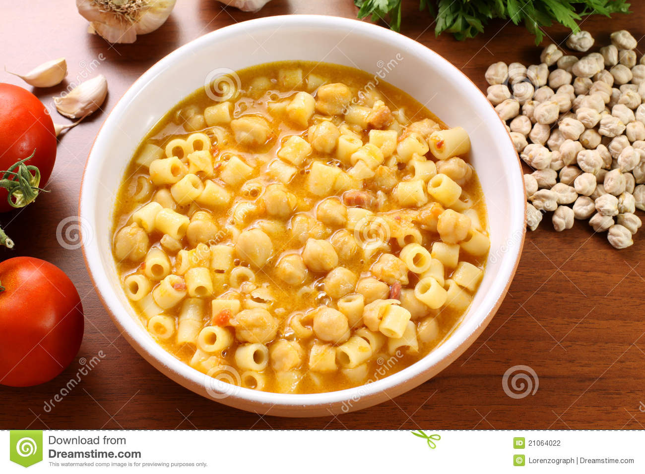 Pasta With Chickpeas Stock Photography - Image: 21064022