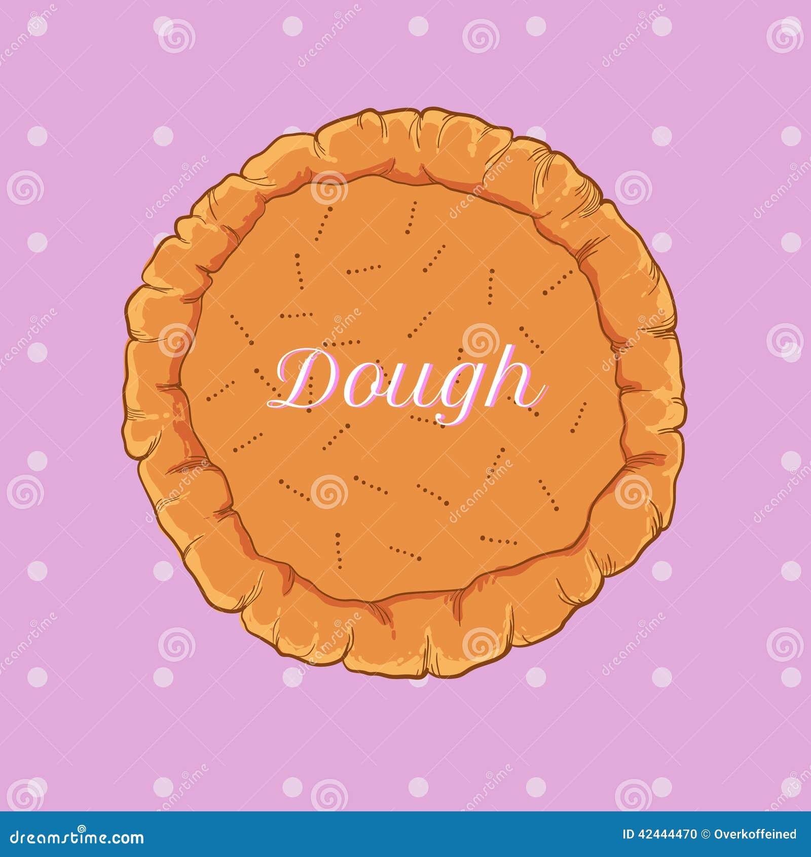 Pasta de pasteles del vector para la pizza o la empanada