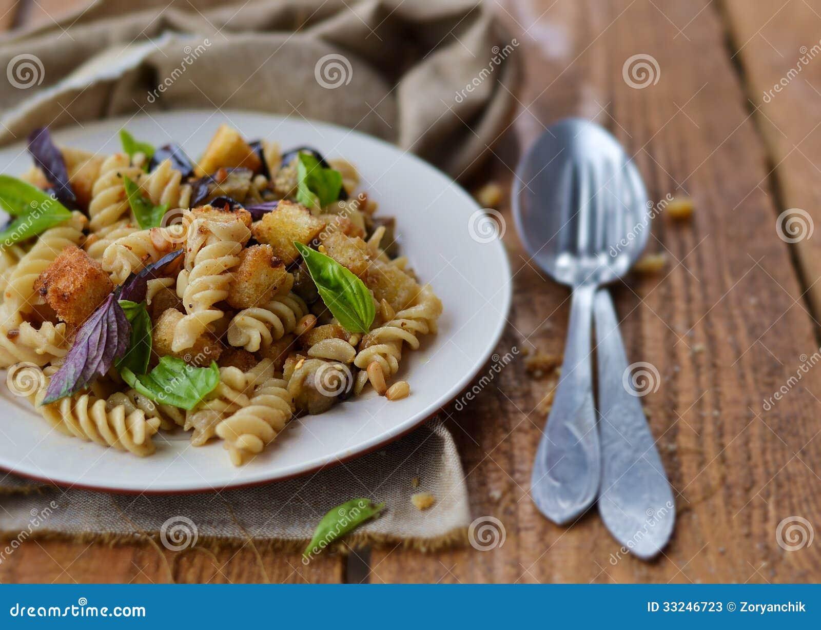 Pasta With Eggplant Stock Photos - Image: 33246723