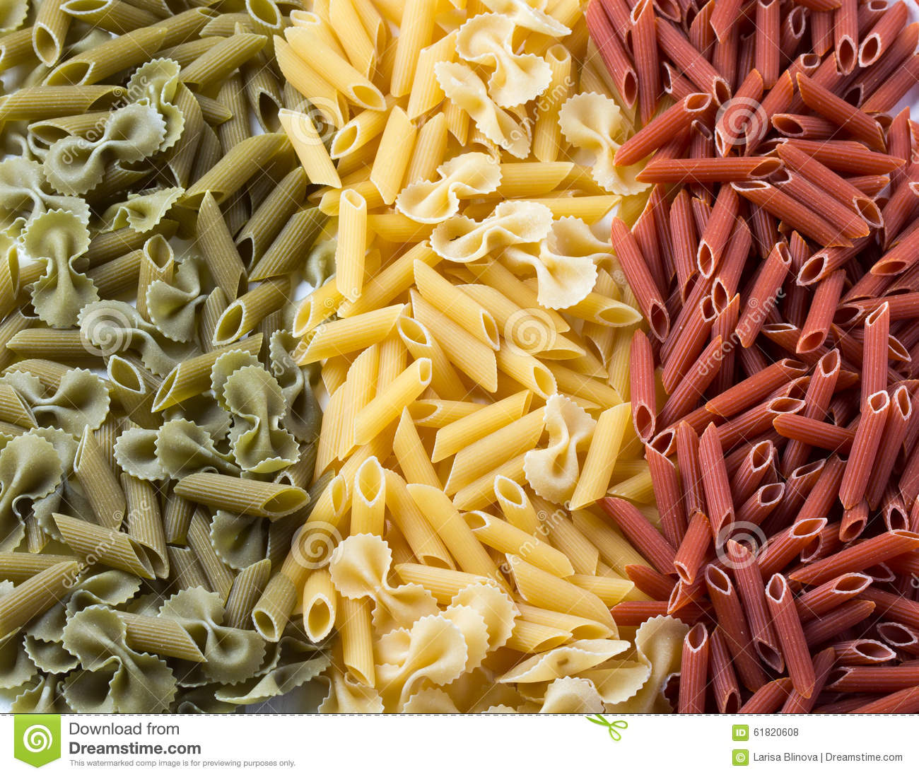 Pasta flag of italy created from macaroni stock photo for Green italy