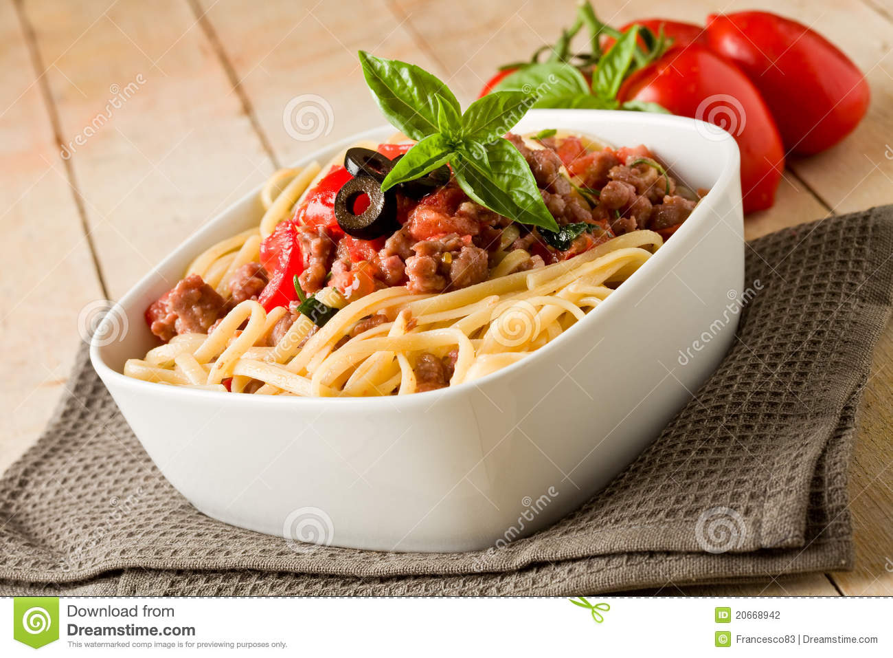 More similar stock images of ` Pasta with italian sausage meat sauce `