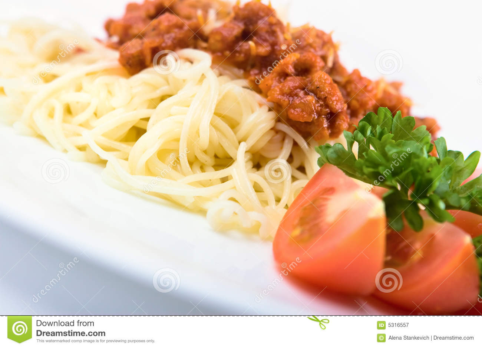 Download Pasta italiana immagine stock. Immagine di immagine, pranzo - 5316557
