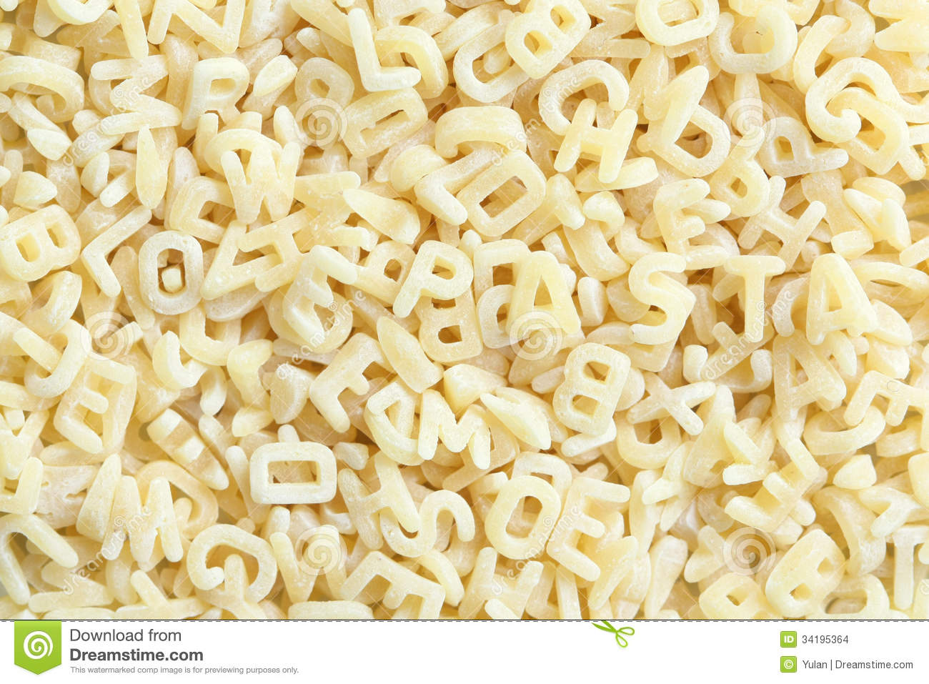 Pasta In Letter Form Stock Photo Image Of Closeup Food
