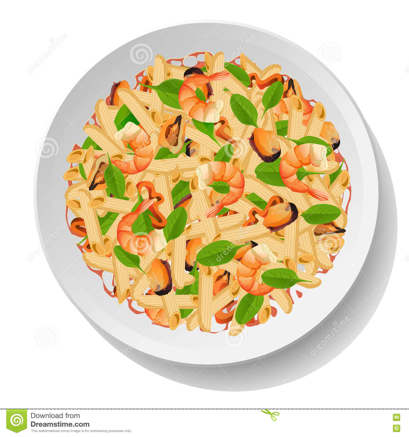 pasta macaroni penne salad with seafood shrimps or king spaghetti dinner clip art church spaghetti dinner clip art black and white