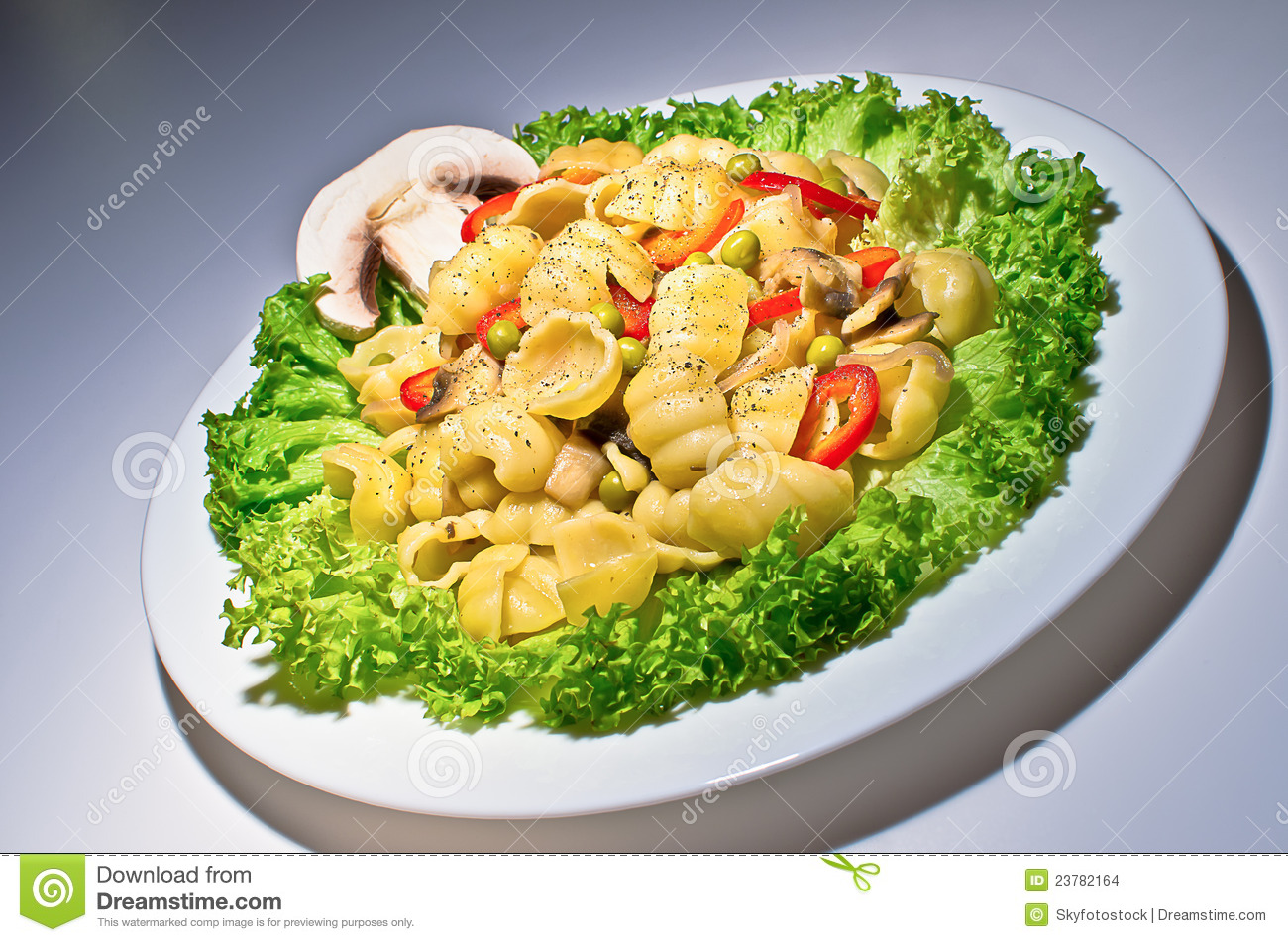 Pasta With Mushrooms Stock Images - Image: 23782164