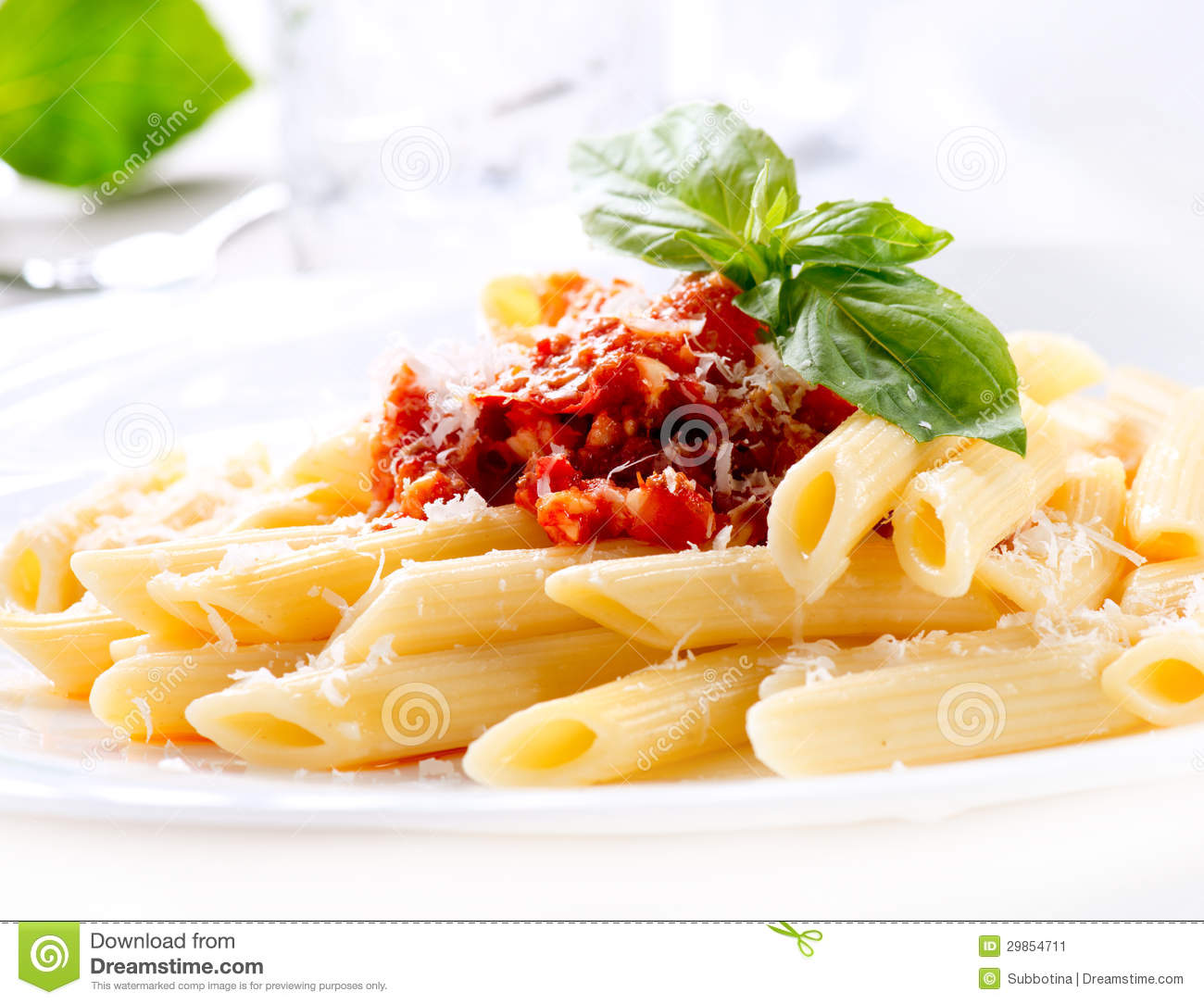 Pasta Penne With Bolognese Sauce Stock Image - Image: 29854711