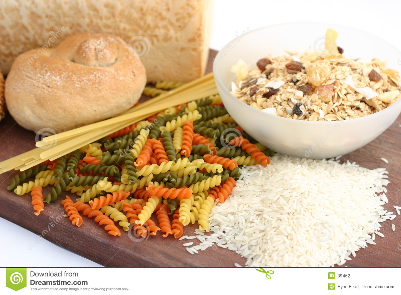 Pasta Rice Bread Cereal Stock Photography - Image: 89462