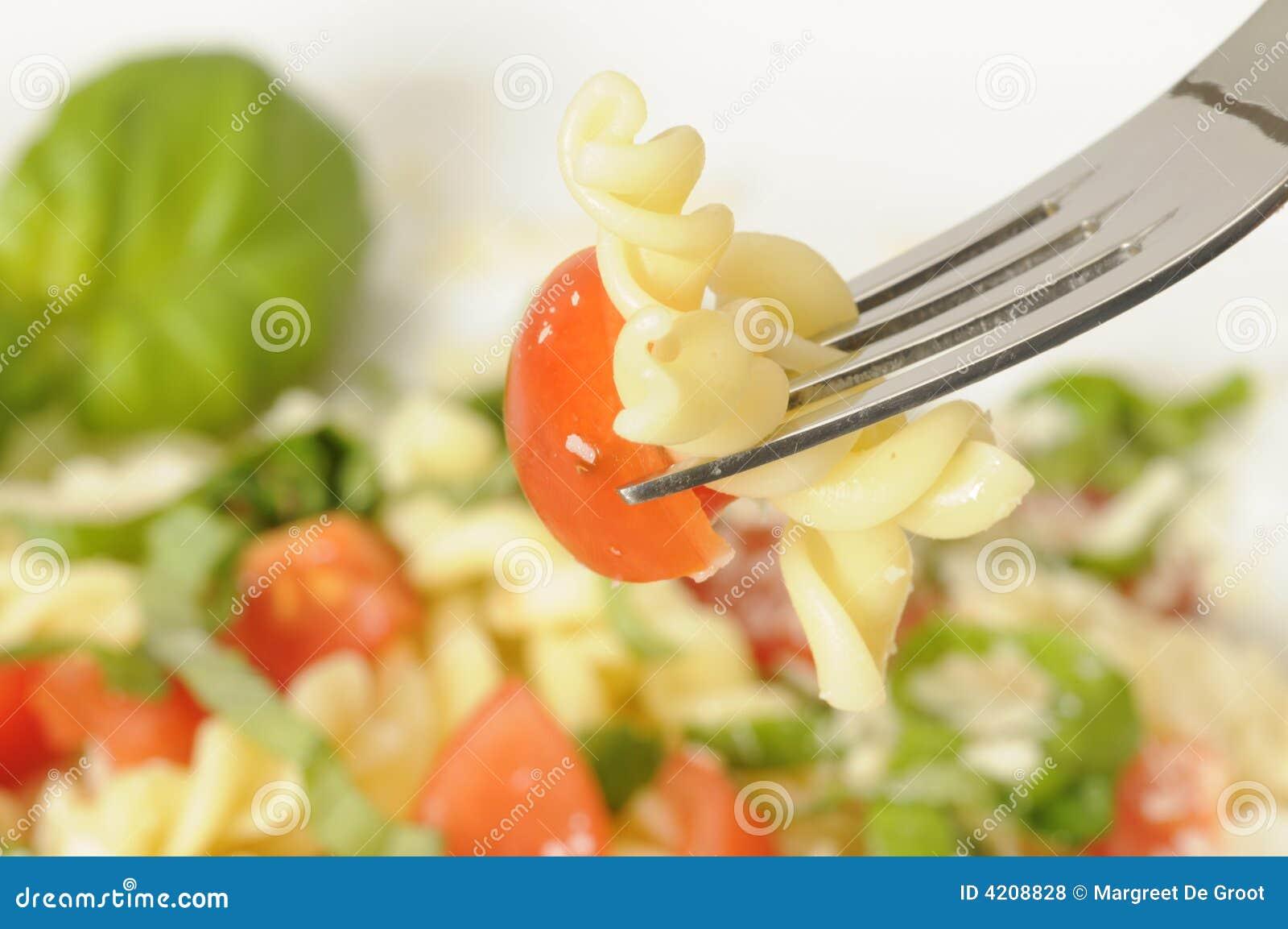 Pasta salad close-up