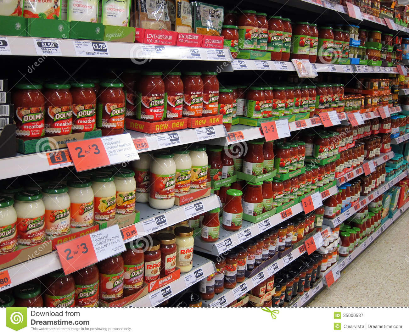 Pasta Sauces In Jars In A Store Editorial Photography Image Of Store Sainsburys 35000537