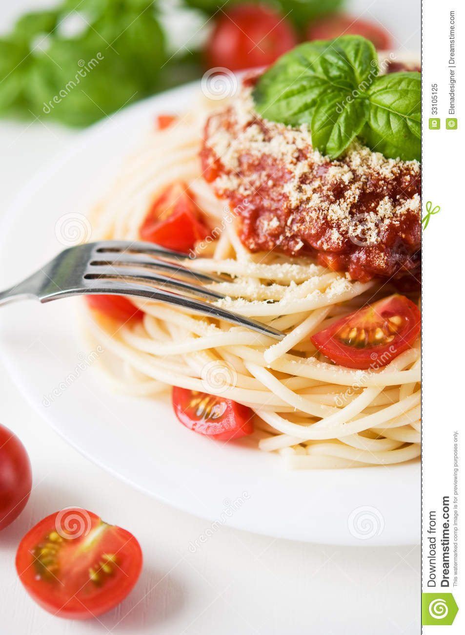 Pasta With Tomato And Cheese Royalty Free Stock Photo ...