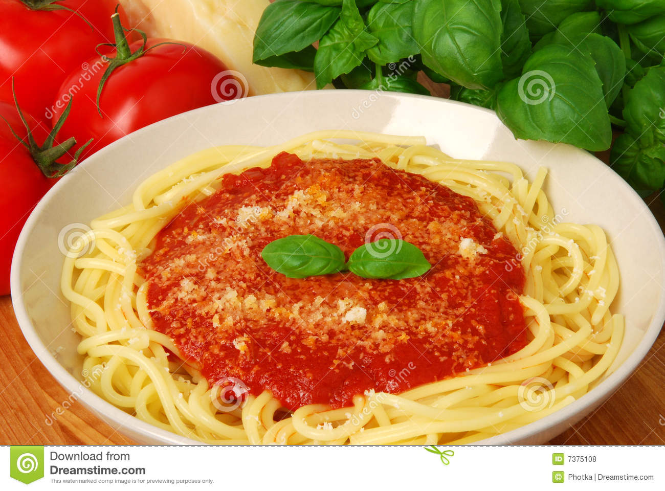 spaghetti with tomato saucem parmesan and fresh basil mr no pr no 0 ...