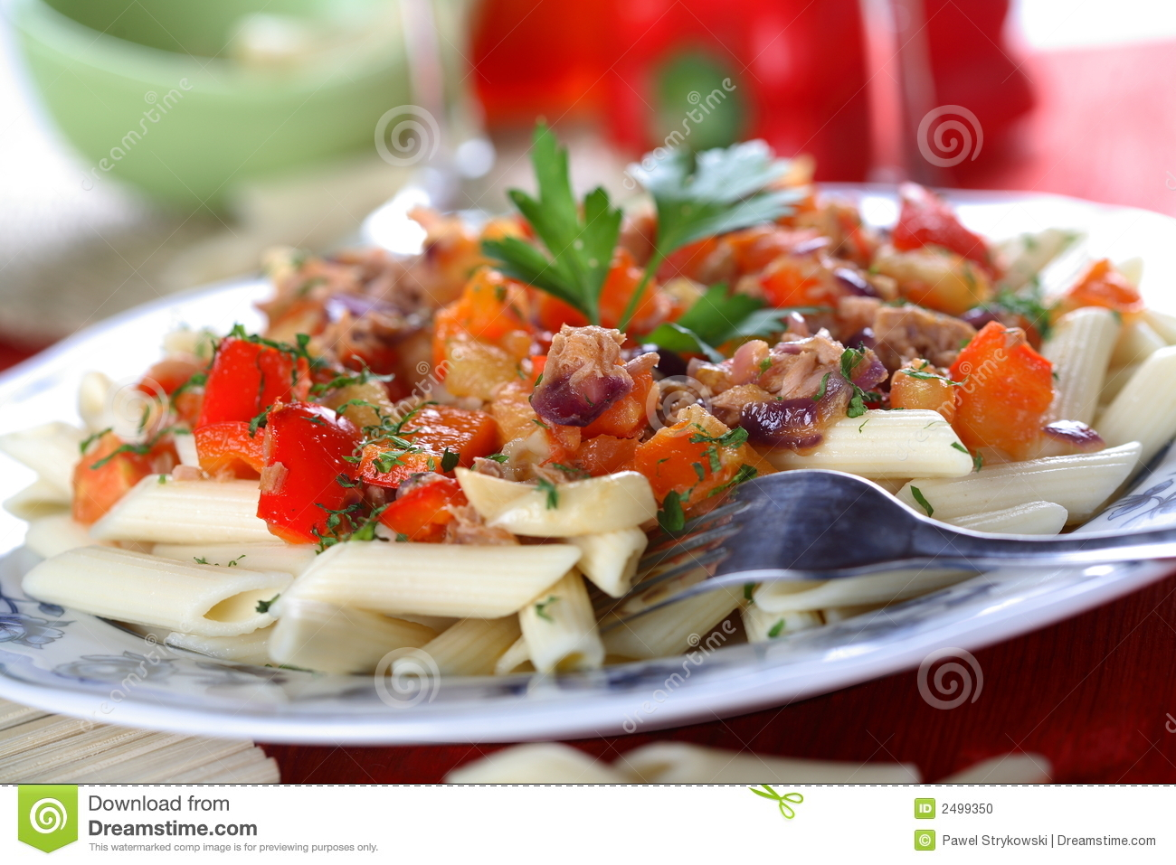 Pasta with tuna fish stock photo image 2499350 for Tuna fish pasta