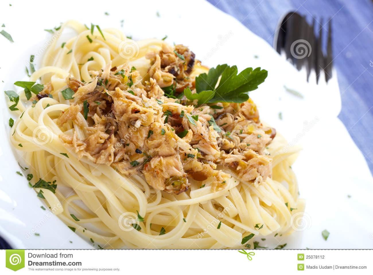 Pasta with tuna fish stock photography image 25078112 for Tuna fish pasta