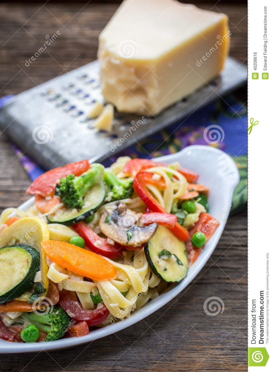 Fettuccine With Spring Vegetables Recipe — Dishmaps